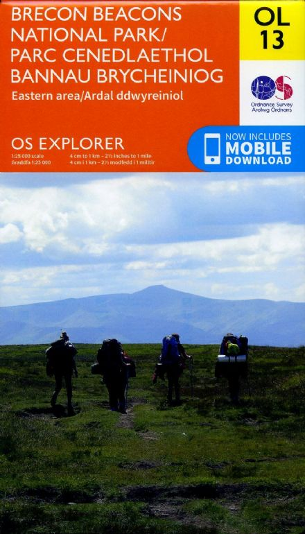 OS Explorer OL 13 Brecon Beacons National Park - Eastern Area